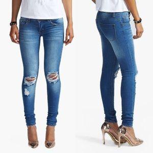 Loren Distressed Skinny Jeans